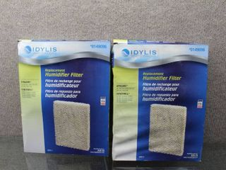 lot of 2 Humidifier Filter Pads   Mo   s   Idylis  0149096 Model  A35 ID   13 25 x10 25 x 1 75
