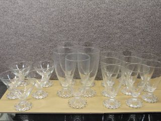 lot of 18 Glassware   Candlewick   Sherbet  Water  Juice Glasses   Various Sizes