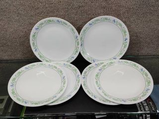 lot of 6 Corelle lunch Plates   Blue Flowers   8 5