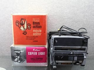 lot of 3 Vintage Video Editing Items   805 Duo Eight Projector  Copier light   8mm Movie Editor   Montgomery Ward  Kalimar   Sears   Copier  For use with Kalicopier Models K 1695   K 1698  Editor edits 400 ft reels