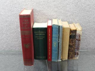 lot of 8 Hardback Books Vintage   Coins Guide Book  Ray s Mathematical Series  Grand Royal Arc etc