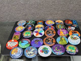 large lot Wichita River Festival Buttons   Numerous Years