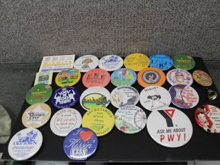 large lot Collector Buttons   Old Town Oktoberfest  Clearwater  Great Bend  Sedgwick Fair  Dodge City etc