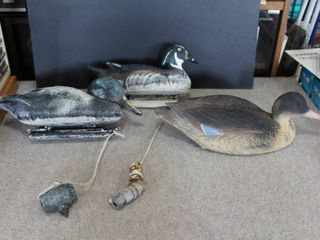 lot of 3 Duck Decoys