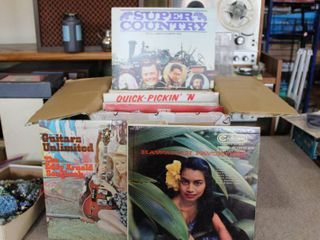 large lot of Records   Super Country   Hawaiian Guitars Unlimited Roy Clark etc    Many different genres