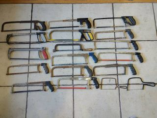 lot of 18 Hand Saws   Stanley etc    Various Sizes     lOCAl PICKUP ONlY