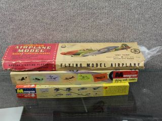 lot of 3 Vintage Airplanes   Boxes are Incomplete   Boeing  Hawker   Fighter   Various Sizes