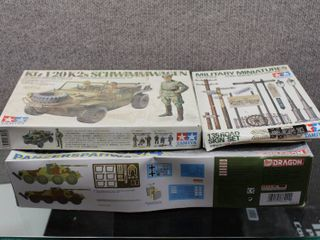lot of 3 Military Models   Dragons   Tamiya   looks Complete   Various Sizes