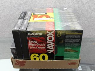 lot of 25 NIB VHS Tapes   Scotch  Memorex  Maxell etc    Various Recording time