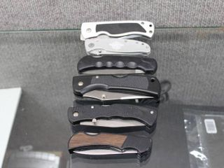 lot of 6 Pocket Knives   Various Sizes