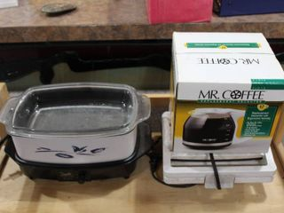 lot of 3 Small Appliances   West Bend Slow Cookers  Oster Belgian Waffle Maker   Mr Coffee Decanter   12 Cup     lOCAl PICKUP ONlY