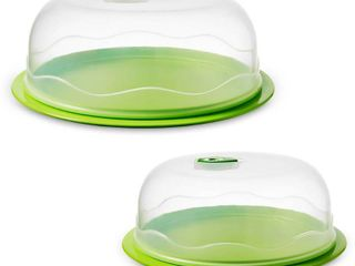 Ozeri INSTAVAC Ready Serve Domed Food Storage Container  BPA Free 4 Piece Nesting Set with Vacuum Seal