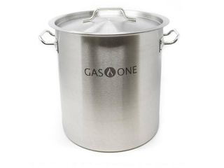 GasOne SP 32 Stainless Steel Brew Kettle Pot 8 Gallon 32 Quart Satin Finish with lid Cover
