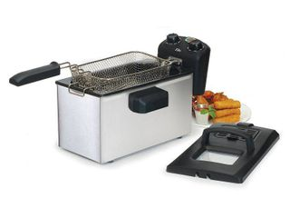 Elite Gourmet 3 5 qt Immersion Deep Fryer with Timer   Temp Knob