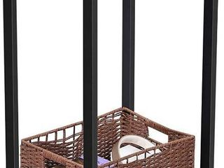 VASAGlE INDESTIC Side Table  End Table  Telephone Table with Mesh Shelf  High and Narrow