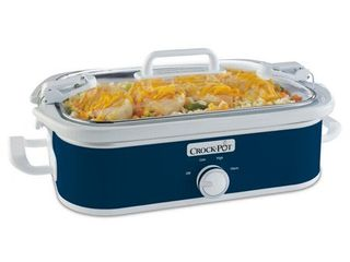 Crock Pot 3 5 Qt  Casserole Crock Slow Cooker   Blue
