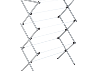 Honey Can Do Heavy Duty Rustproof Metal Drying Rack  Silver