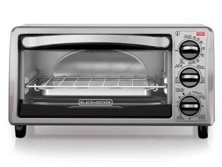 Black   Decker Black Toaster Oven   4 Slice