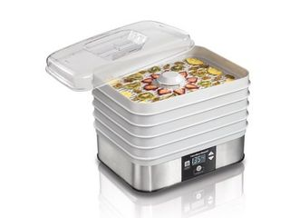 Hamilton Beach   5 Tray Food Dehydrator   Silver White