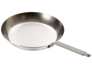 Matfer Bourgeat Black Steel Round Frying Pan  11 7 8 Inch  Gray
