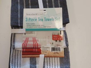 3 Piece Tea Towels Set   Gray