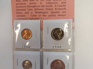 4 Proof Coins   Penny  Nickel  Dime and Quarter