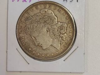 1921 D Morgan Silver Dollar   100 Years Old