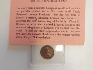 1909 lincoln Head Wheat Cent