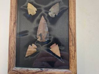 5 Arrowheads in Frame