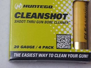 4 ct  20 ga  Clean shot  shoot through gun bore cleaner