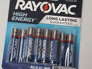 12 ct  Rayovac AAA High Energy batteries