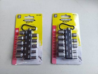 2  10 Piece Nut Driver Set 1 4  Hex Shank 1 1 2  long   SAE and Metric