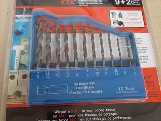 TG Tools KIK High Speed Drill Bit Set  9 2 Piece
