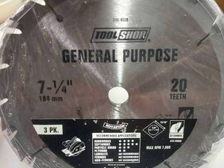 3 Pack General Purpose 7 1 4  Saw Blades