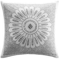 The Curated Nomad Natoma Grey Embroidered Cotton Decorative Pillows set of 2
