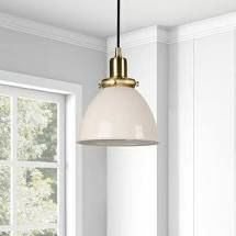 Madison 8 in pendant white