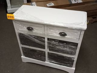 white storage cabinet with 2 drawers