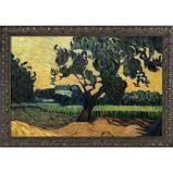 Vincent Van Gogh  landscape with the Chateau of Auvers at Sunset  Hand Painted Oil Reproduction  Retail 497 99
