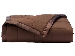 Elite Home Down Alt Microfiber Blanket   Chocolate  Full Queen