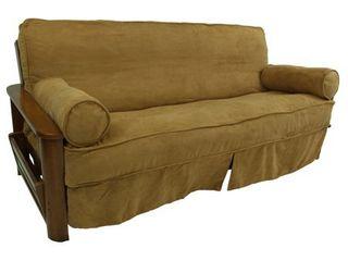 blazing needles microsuede 3 piece futon slip cover set 54x75 Camel