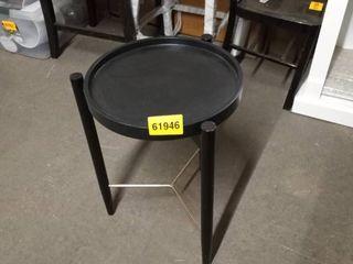 kate and laurel black 3 legged table