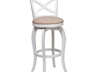 25  Ellendale Wood Counter Height Barstool 1 only White   Hillsdale Furniture