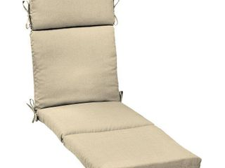 Arden Selections New Tan leala Texture Outdoor Cartridge Chaise Cushion   72 in l x 21 in W x 4 in H