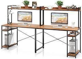 vipek computer half of desk 1 box as is brown