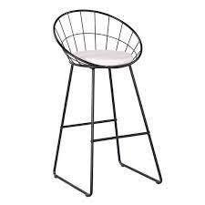 Carson Carrington Banne Wrought Iron Modern Extra Tall Barstool set of 4