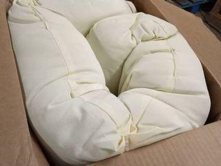 blazing needles 48 in swivel cushion beige