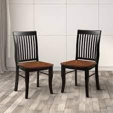 Furniture of America Nora Traditional Oak Dining Chairs  Set of 2  Retail  194 99