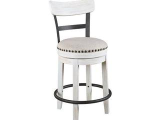 Valebeck White Counter Height Swivel Stool  Retail 146 99