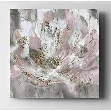 Blush Flower Power   Premium Gallery Wrapped Canvas