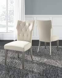 Chevanna Cream Dining Upholstered Side Chair   Set of 2   Retail 246 49